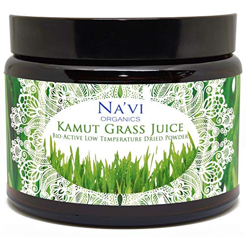 Na'vi Organics Organic Raw Kamut (Wheat) Grass JUICE Powder - Premium Grade & Organic Certified (250 grams)