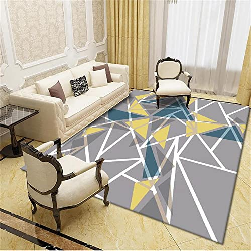 Alfombra Pasillo Antideslizante Alfombra Habitacion Juvenil Diseño de impresión retro amarillo de color café alfombra tradicional alfombra de sala de estar segura antideslizante, resistente al desgast