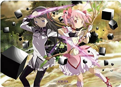 Character Rubber Mat The Movie Magical Girl Madoka Magika [New Edition] Story of rebellion [Madoka & Homura] for Card Game by Broccoli