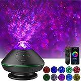 Proyector de Estrella,Klearlook Proyector de Luz Nocturna Estrellada con Música/Control Remoto/Wi-Fi/Bluetooth/ USB/Control de Sonido/Temporizador,Planetario Proyector para Decoración,Fiesta,Regalo