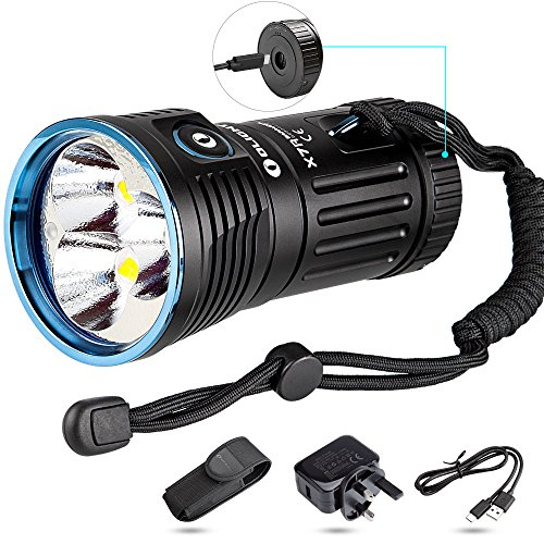 Olight Super Bright Powerful Torch X7R LED 12000 Lumens USB Type C Fast Charger Port Your Best Camping Search Rescue Flashlight Black