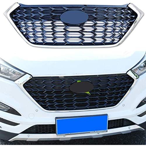 ASDDD Für Hyundai Tucson 2015-2018 Car Front Kühlergrille, Front Bumper Radiator Grilles Center Nierengitter Stoßstange, Auto Mesh Racing Grille Body Styling Zubehör