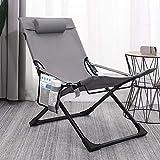HOUMEL Tumbonas de jardín y reclinables, plegable, ajustable, con bolsa de almacenamiento, ajuste de 3 posiciones, 67 × 56 × 89 cm, sillas grises portátiles c312 (color: gris)