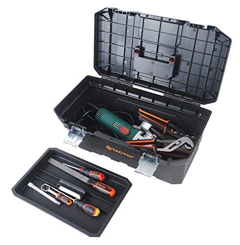 Tactix 320341 - Caja de herramientas (plástico, 16 pulgadas)