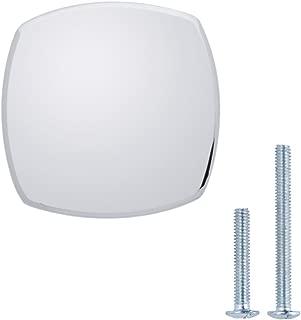 "AmazonBasics Rounded Square Cabinet Knob, 1.26"" Diameter, Polished Chrome, 25-Pack"