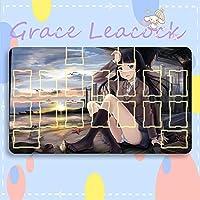 GraceLeacock カードゲームプレイマット 遊戯王 プレイマット 俺の妹がこんなに可愛いわけがない ごこう るり TCG万能 収納ケース付き アニメ 萌え カード枠あり (60cm * 35cm * 0.3cm)
