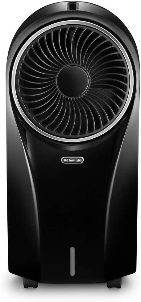 Climatizzatore evaporativo con ionizzatore DeLonghi EV250.WH 53 decibel deposito con 6 ore di autonomia 55 W protezione IPX4 display LED e telecomando 4,5 litri