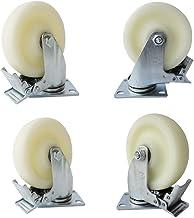 "(4 stuks) Industriële zwenkwielen Medium 5""nylon Activiteit Universele vaste dubbele remmen MC-meubelen Draagbare kinderwa..."