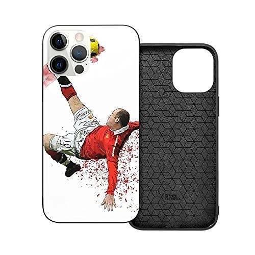 Compatibile con iPhone 12/11 Pro Max 12 mini SE X/XS Max XR 8 7 6 6s Plus Custodie Rooney England Manchester United U Wayne Football Soccer Mufc Man Custodie per Telefoni Cover