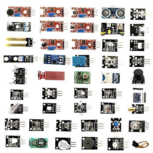 Hiinice Sensormodule Set für Raspberry Pi Anfänger Sensoren Module Starter Kit Kompatibel mit UNO R3 45PCS