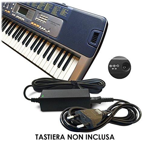 ABC Products Sostituzione Casio DC 9V / 9 Volt, Alimentatore, alimentazione, Adattatore Cavo di alimentazione (AD-5, AD-5E, AD-5MLE, AD-5MLE-TC1, AD-5MR, AD-5EL, AD-5MU, AD-5GL) per Casio Synthesizers / Piano's / Keyboards / Tastiera (modelli indicati di seguito)