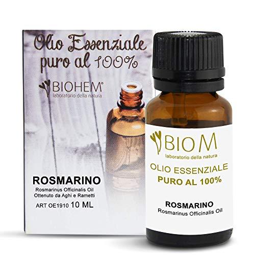 BiomIntegra Olio Essenziale Rosmarino PURO 100% | Olio Essenziale per Diffusori, ottimo Olio per Capelli e Olio per Massaggi Rilassanti | Olio di Rosmarino Made in Italy - 10ml -