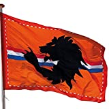 Boland 61787 - Dekorationsfahne Löwe, Größe 200 x 300 cm, Niederlande, Holland, Flagge, Polyester, Banner, Wanddekoration, Mottoparty, Geburstag, Europameisterschaft, Länderspiel