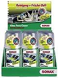 SONAX 12x Klimaanlagenreiniger/-desinfizierer KlimaPowerCleaner Green Lemon inkl. Theken Display