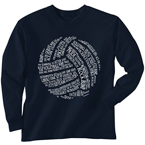 Volleyball Words Long Sleeve T-Shirt | Volleyball Tees by...