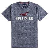 [ホリスター] メンズ Tシャツ (半袖) APPLIQUE LOGO GRAPHIC TEE ヘザーネイビー M [並行輸入品]