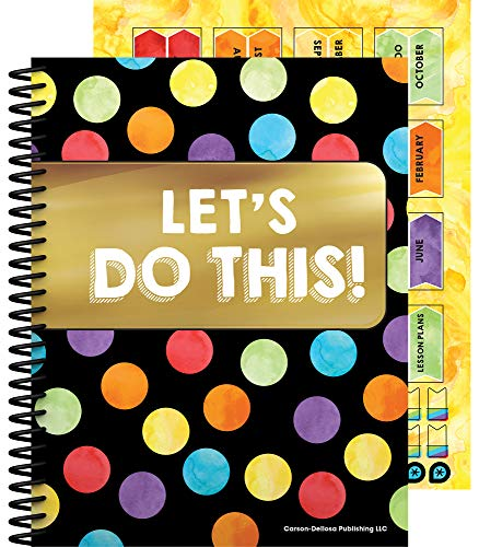 """Celebrate Learning Academic Teacher Planner―Undated Weekly/Monthly Plan Book, Lesson Planner and Record Organizer for Classroom or Homeschool (8.4"""" x 10.9"""")"""