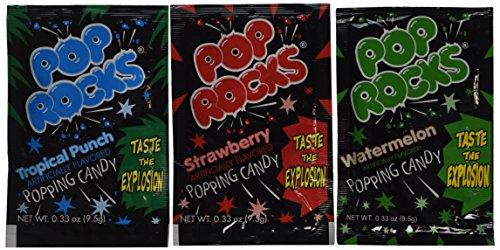 Assorted POP ROCKS Candy Packs (1 dz),Each pack is 0.33 oz (9.5 g)