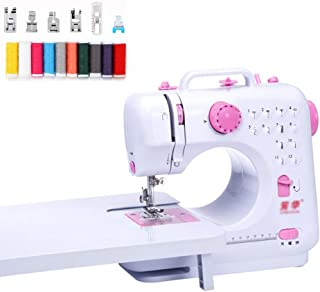 Sewing Machine, Beginners Sewing Machine Overlocker Machine Multifunction, 12 Stitch, 2 Speed, with Small Led Light, Batte...