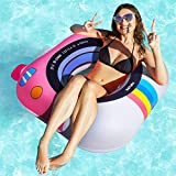 Pool Floats Adult Size, 50% Thicker Pool Float, Multi-Purpose Inflatable Pool Floaties Toys for Adult for Tanning Pool or Lake