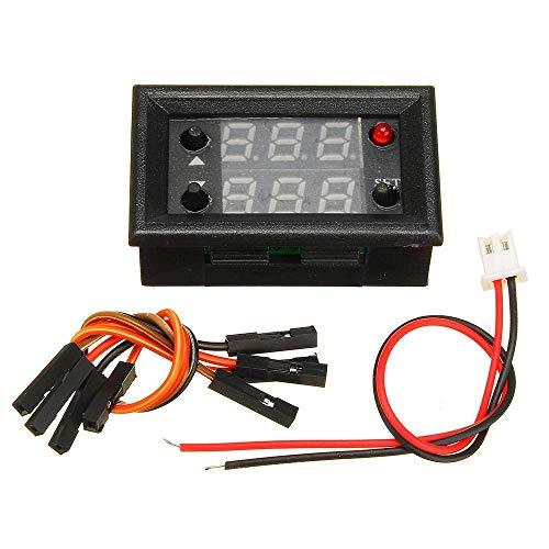 MOZUSA 3pcs generador de señal de PWM Pulso Ciclo de frecuencia Módulo Ajustable con Pantalla LCD de 1 Hz-160kHz 4V-30V-5 mA a 30 mA Accesorios