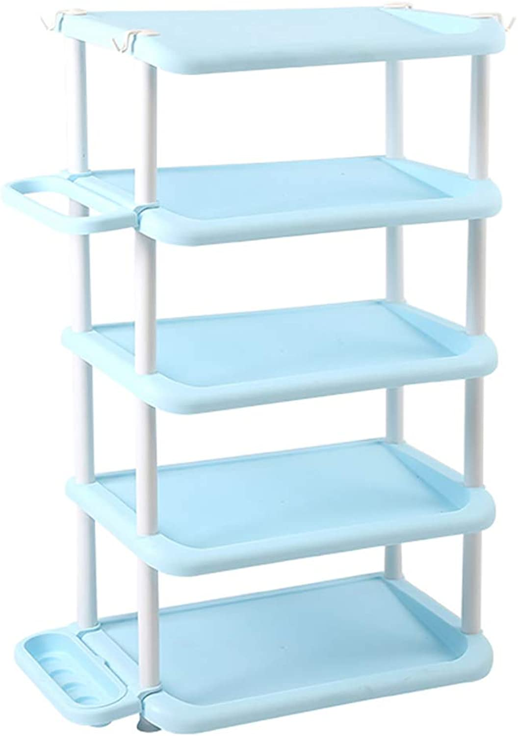 4 5 6-layer shoes Rack Shelf Umbrella Stand Storage Shelf shoes Cabinet Multifunction Household Doorway Entrance Space Saving (color   A, Size   47.5  31.5  85CM)