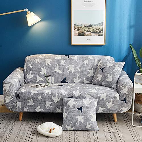 ASCV Funda de sofá elástica con Estampado Floral Estilo de línea Fundas de sofá elásticas para Sala de Estar Funda de sofá Funda de sofá seccional A7 2 plazas