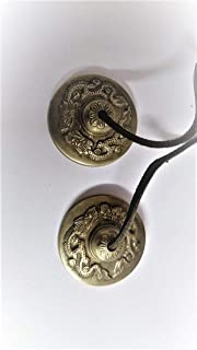RATNA Musical Instruments Manjeera/Manjira Traditional Instrument Indian Music Handcrafted Brass Cymbals Manjeere Dragon D...