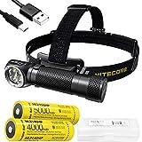 NITECORE HC35 2700 Lumen USB Rechargeable 21700 L-Shape Detachable Headlamp Flashlight with Extra 5000mAh High Performance Battery and LumenTac Battery Case