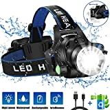 Headlamp Flashlight, USB Rechargeable Led Head Lamp, IPX4 Waterproof T004 Headlight with 4 Modes and...
