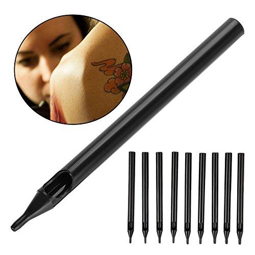 Agujas estériles desechables para tatuajes, puntas de tatuaje ajustadas para tatuaje, manijas, tubos de escape, agujas, puntiagudos, agujas de tatuaje estériles, silicona, agarre, maquillaje(7RT)
