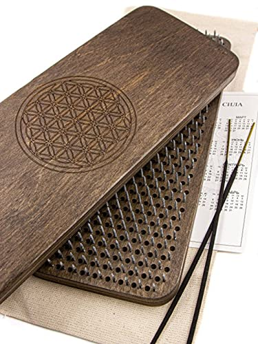 Pureflow Sadhu Boards with Nails for Yoga Practice and Meditation Hand Made Natural Wood and Galvanized Nails Yoga Board Brown 10mm