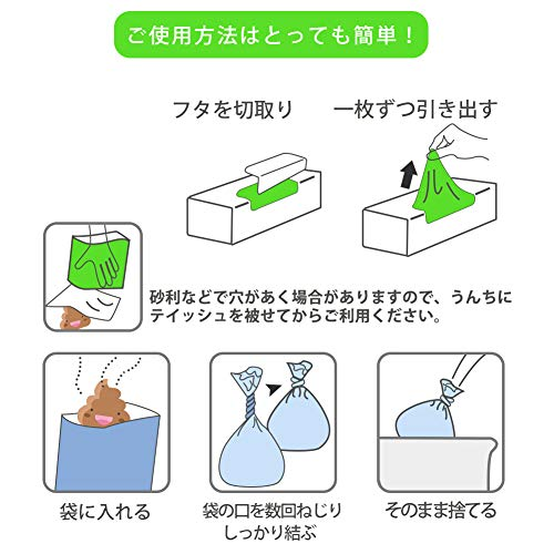 うんちが臭わない袋 防臭袋 うんち袋 どんなニオイも臭くない ペット用・犬用・ 猫用 うんち処理袋 220枚入り(ブルー、S)