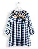Marca Amazon - Red Wagon Check Smock Dress, Vestido para Niñas, Azul (Blue/Pink Check), 104, Label:4 Years