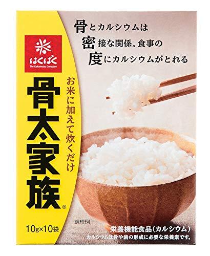 はくばく 骨太家族 1ケース(10gスティックx10本が12個入)カルシウムとビタミンDを強化した国内産麦を使用