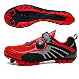 LU-Model Zapatillas de Ciclismo Elite SPD MTB para Hombres Mujeres Ideales para Bicicletas de montaña, Ciclismo de Ciclo XC en incluidos Red-42