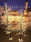 XONE Albero di Natale LED 60 Cm | Albero Luminoso Innevato 32 LED Luce Calda