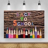 背景布 学生の子供のポートレート写真のためのカラフルな木製の壁の背景鉛筆シックな背景-150x220cm