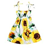 Kids Toddler Baby Girls Summer Dress Outfits Ruffle Strap Sunflower Print Tutu Skirt Sunsuit Beachwear Clothes...