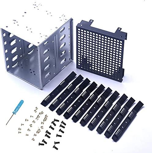 Gabbia per disco rigido in acciaio inossidabile, da 5,2 a 5,2 x 3,5 cm Rack SAS per computer SATA HDD Cage Rack,Rack per disco rigido in acciaio inox con spazio ventola