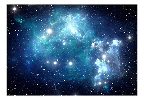 Wall26 - Shades of Blue Glaxy in a Sea of Stars - Wall Mural, Removable Sticker, Home Decor - 100x144 inches