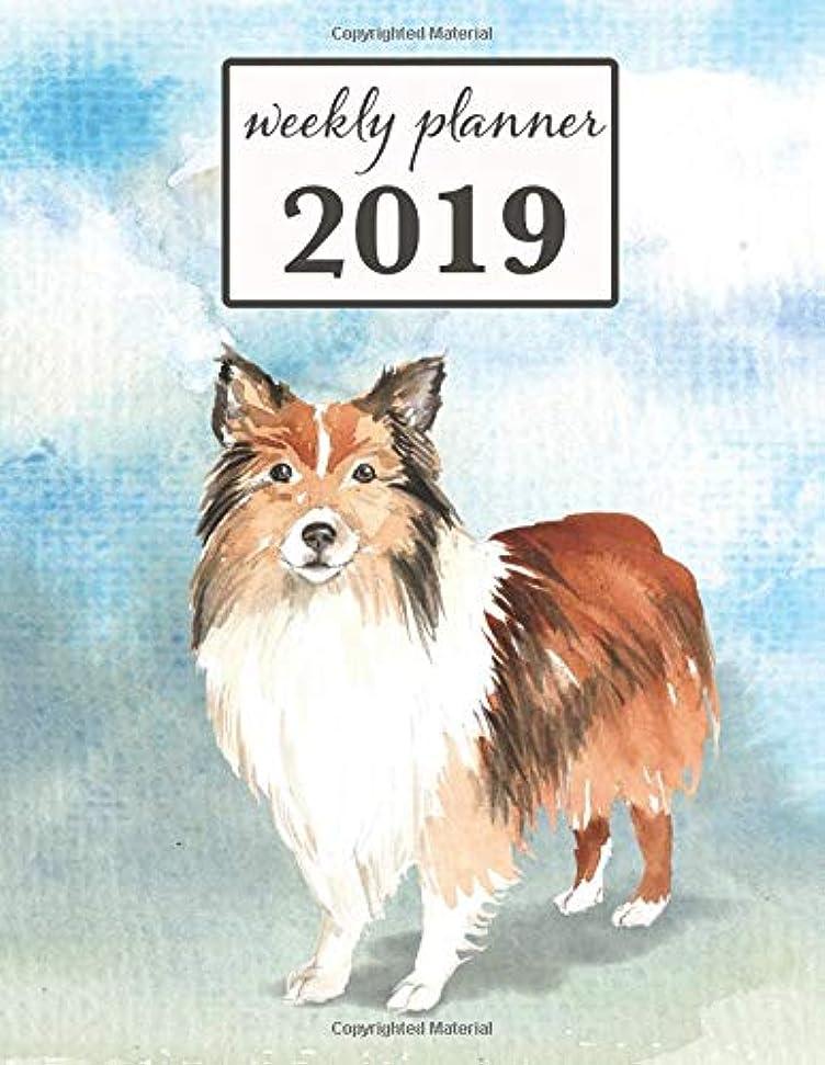 伝染性鈍い第2019 Weekly Planner: Shetland Sheepdog - 12 Month Weekly Habit Tracker School Calendar Diary and Homework Organizer (Dog 2019 Weekly Calendar)
