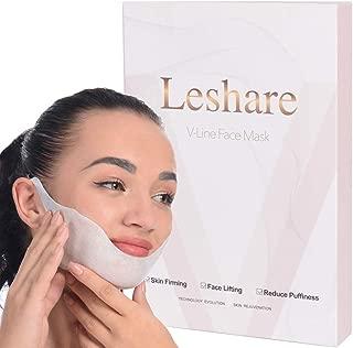 Leshare Face Slimming Masks, Jawline Slimming Masks, Jaw Slimming Strap, V-Line Masks, Double Chin Reducer with Plant Essence Oils