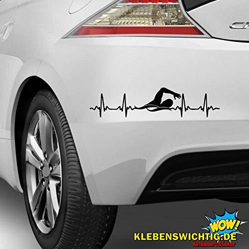 klebenswichtig Herzschlag Kraulen Schwimmen ca.30cm Aufkleber Autoaufkleber