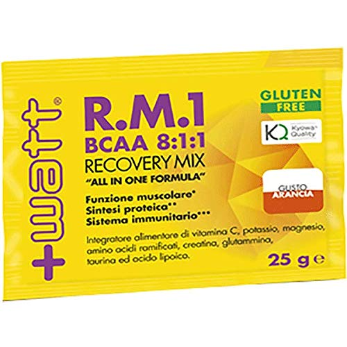 R.M.1 (BCAA 8:1:1) Recovery Mix Monodose (box 30pz x 25gr) (Gusto: Arancia) +WATT Integratori