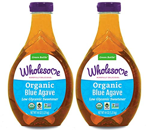 Wholesome Organic Blue Agave Nectar, Natural Low Glycemic Sweetener, Non GMO, Fair...