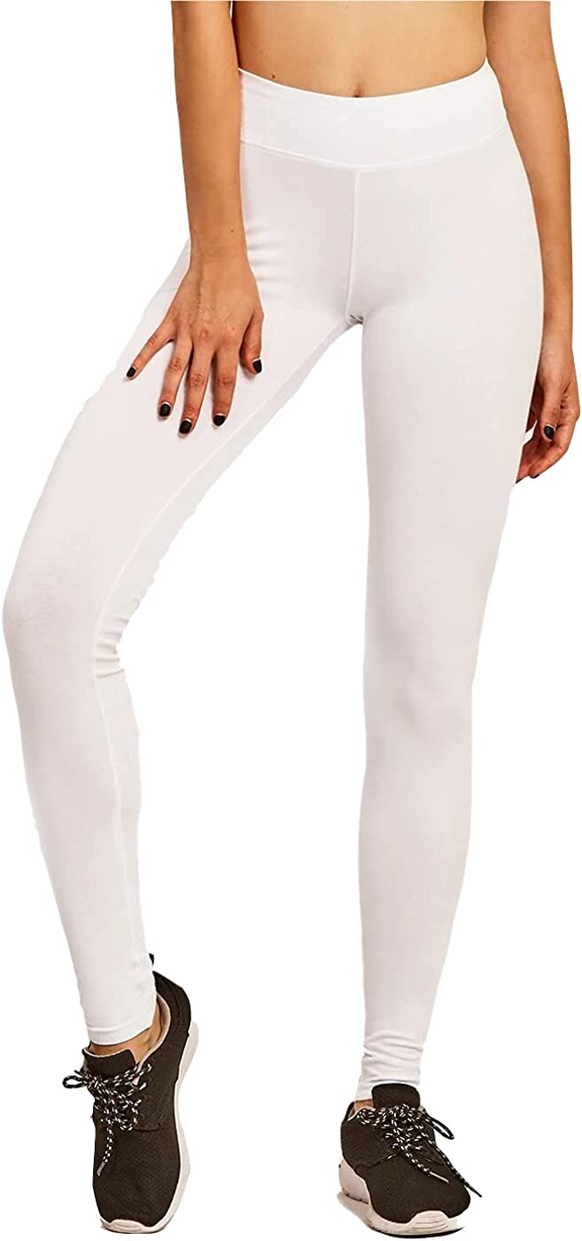 Khanomak Women's Active Basic Plain Cotton Stretchy Super beauty product restock quality top Casual Gifts Full