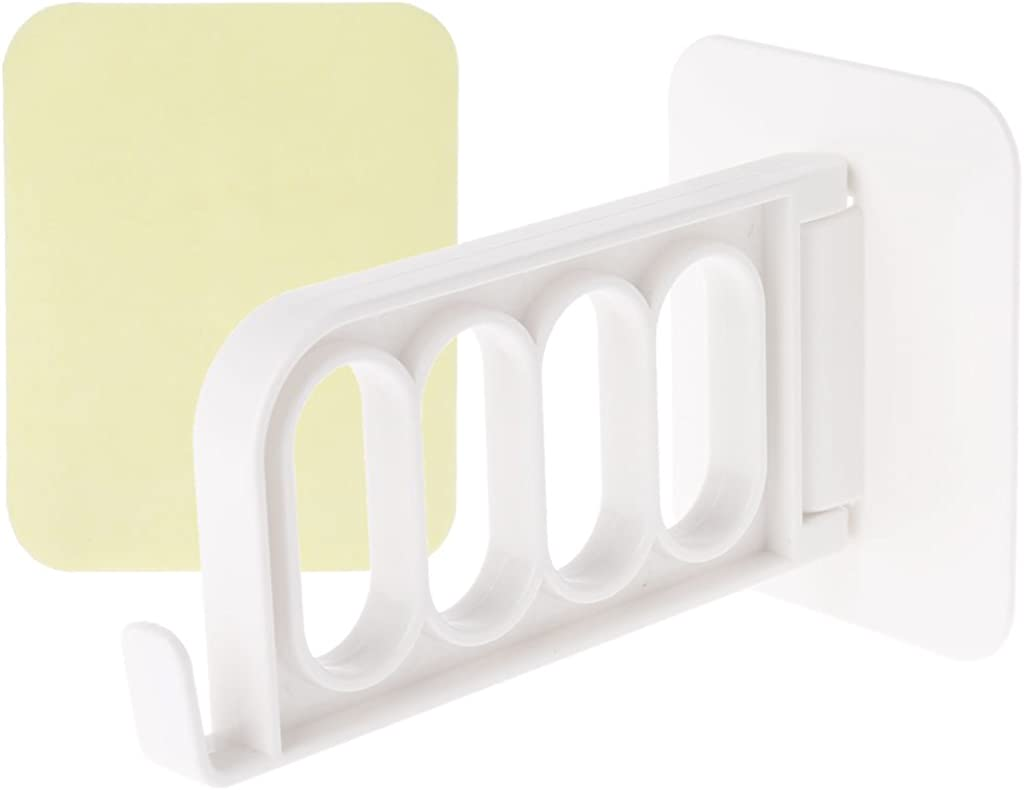 Limited time cheap sale Today's only Wall Door Hanging Clothes Hanger Hook With Organizer 4 Rack Hole