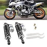 GZYF 320mm Moto Amortisseur Arriere Amortisseurs à Suspension Pneumatique Suspension pour Moto 50cc- 150 CC Noir et Argent & Eacute