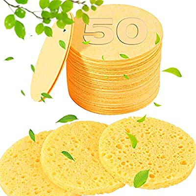 50-Count Compressed Facial Sponges